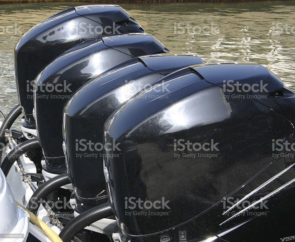 Boat Motors stock photo