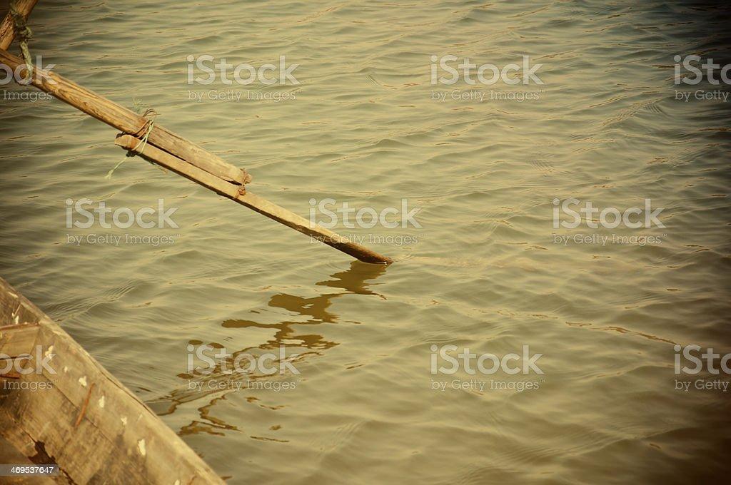 boat oar royalty-free stock photo