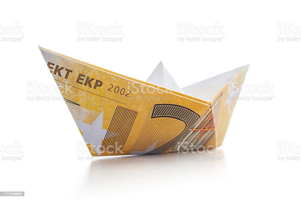 Boat of money royalty-free stock photo