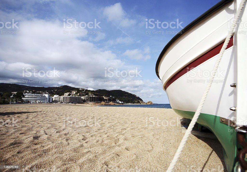 Boat on a beach royalty-free stock photo