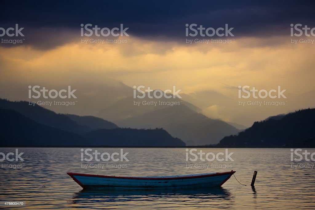 Boat on a water stock photo