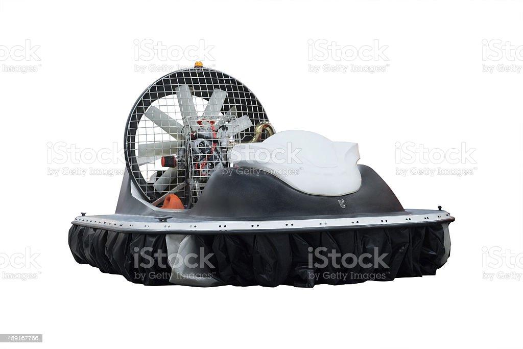 boat on an air cushion stock photo