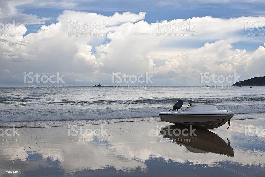 boat on beach royalty-free stock photo