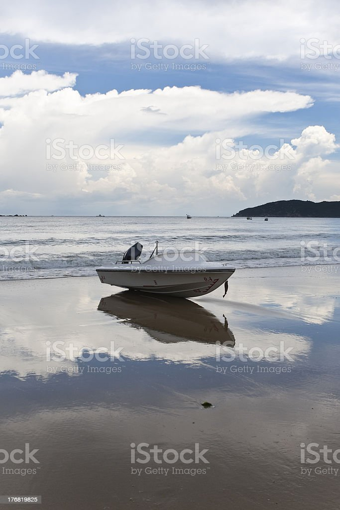 boat on beach royalty-free stock photo