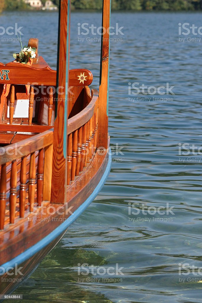 Boat on Bled lake - Slovenia royalty-free stock photo