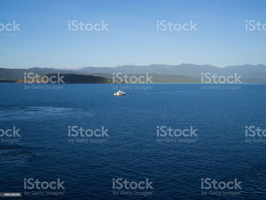 Boat On Calm Water stock photo