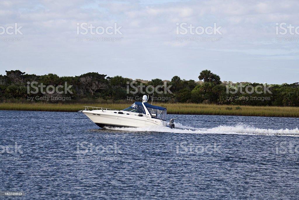 Boat On Intracoastal Waterway stock photo
