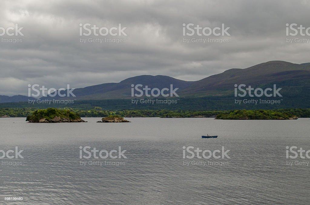 Boat on Killarney stock photo