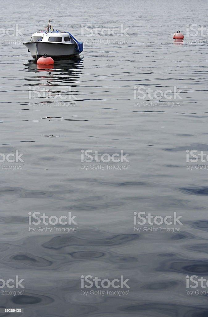 boat on Lake Lugano royalty-free stock photo