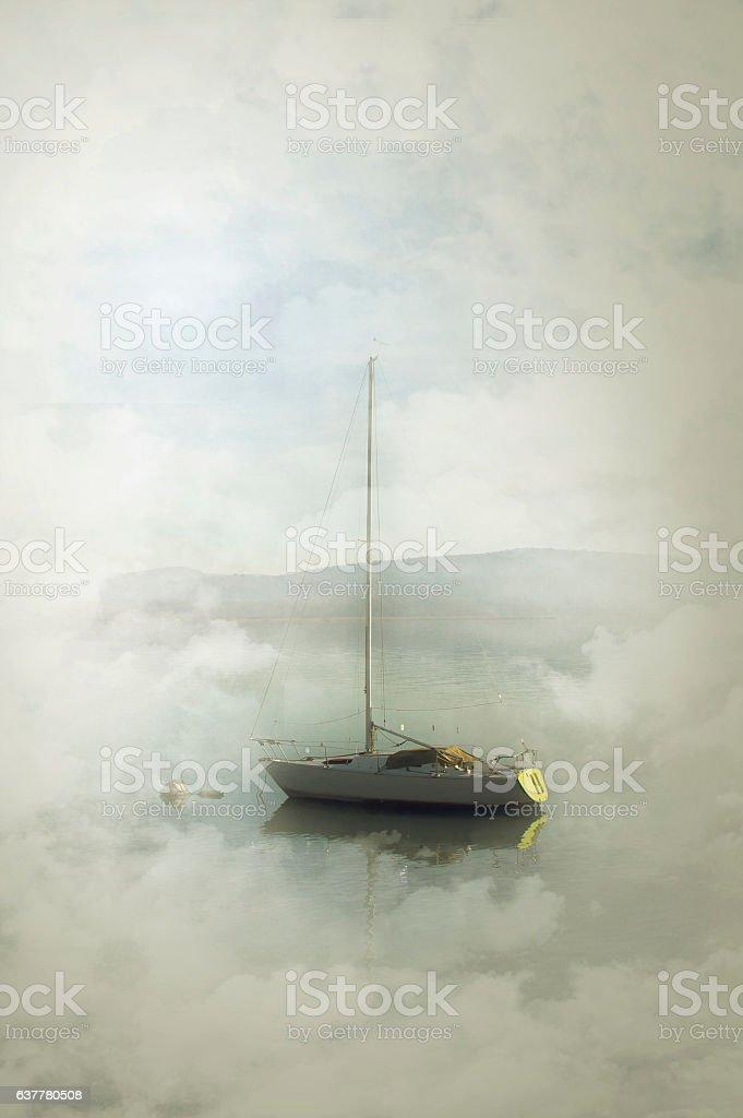 boat on Lake Maggiore, Arona stock photo