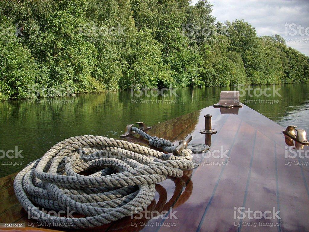 Boat on Norfolk Broads stock photo