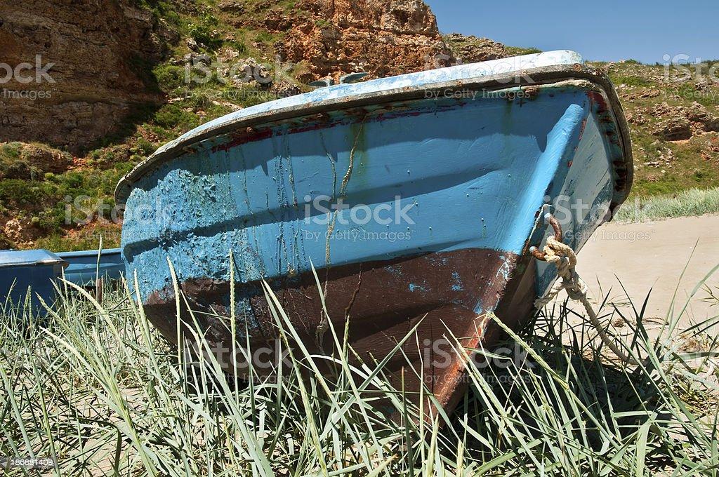 Boat on  shore stock photo