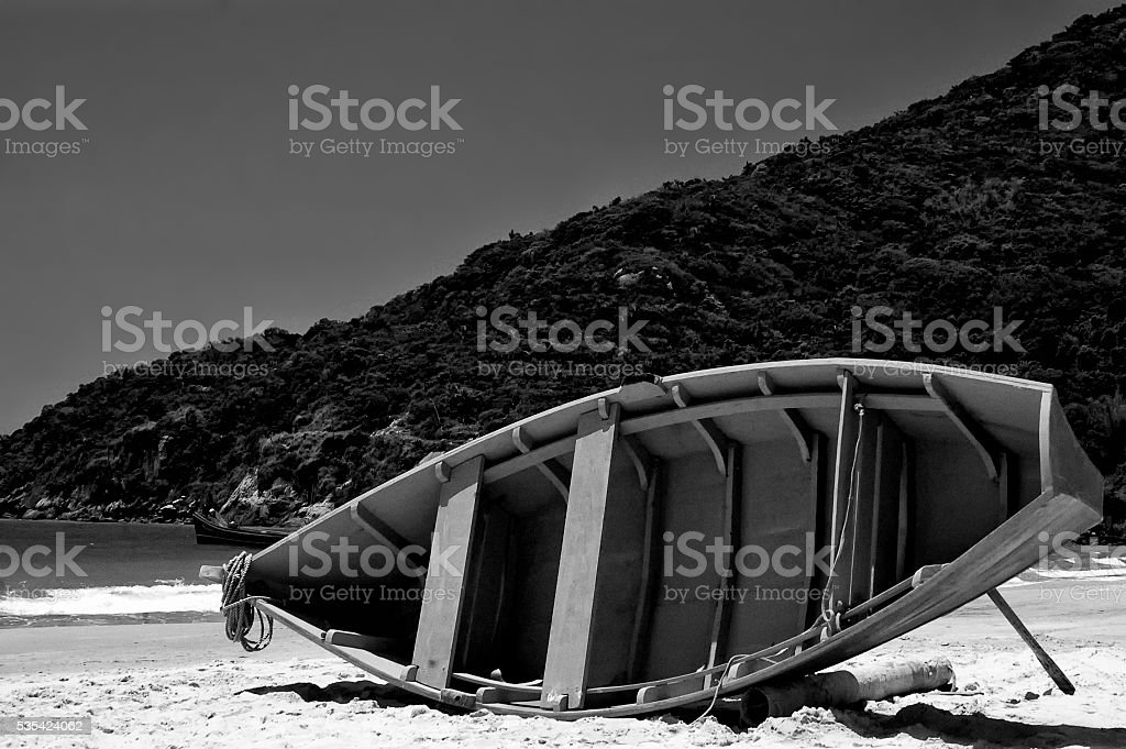 Boat on the Beach stock photo