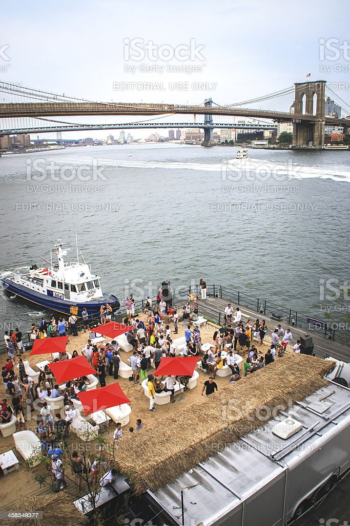NYPD boat on the Hudson River, New York City royalty-free stock photo