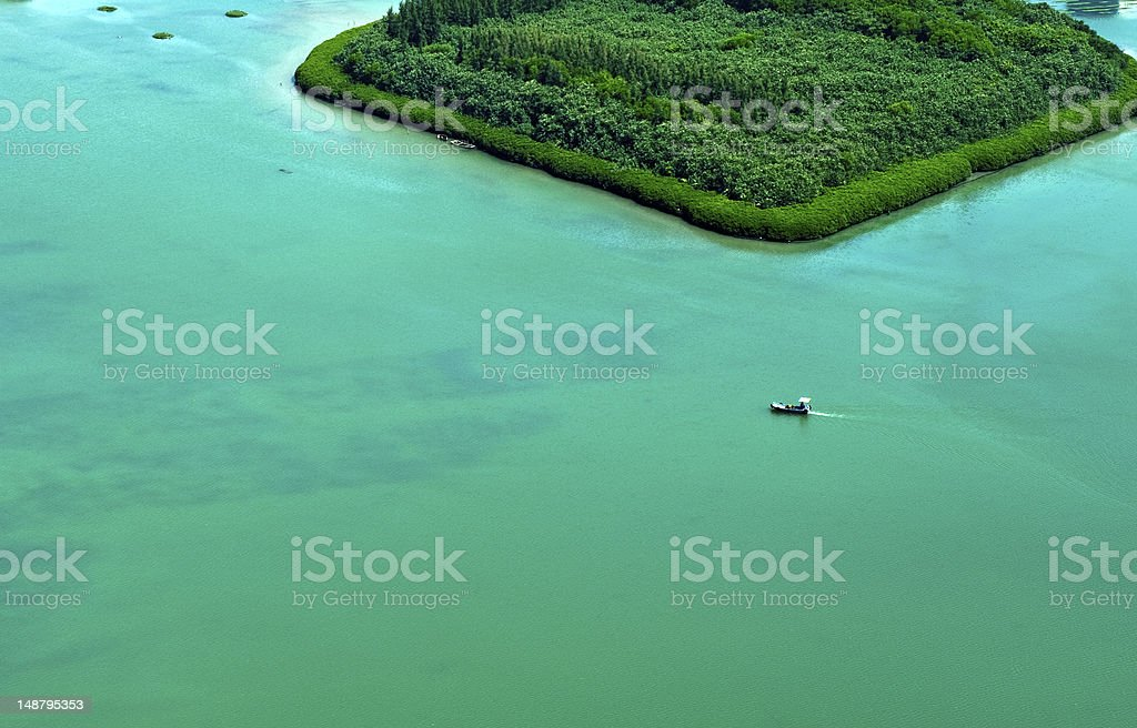 boat on the lake royalty-free stock photo