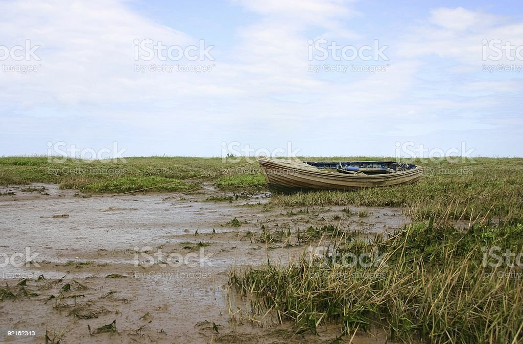 boat on the marshes royalty-free stock photo