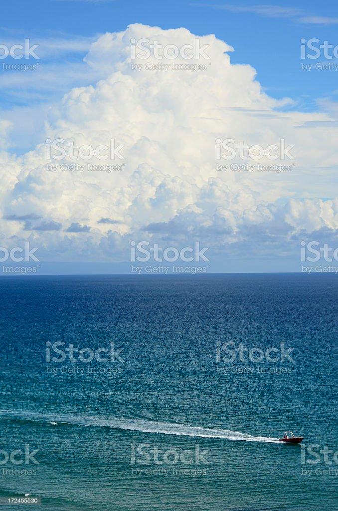 Boat on the Ocean royalty-free stock photo
