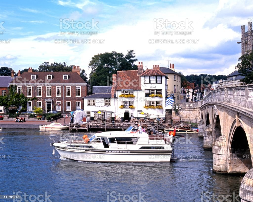 Boat on the river, Henley-on-Thames. stock photo
