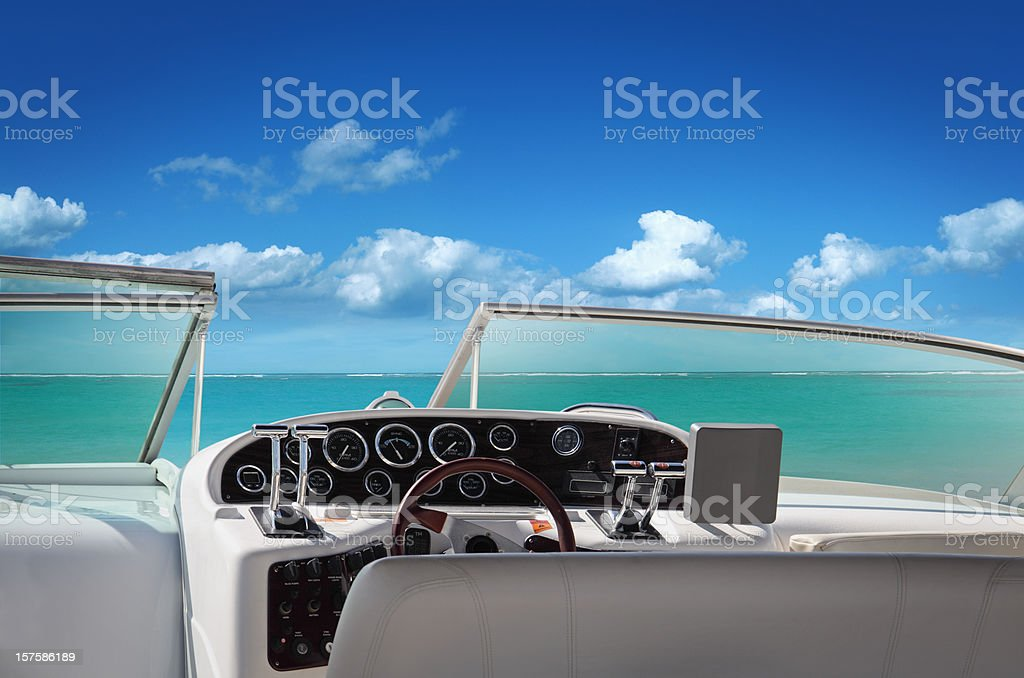 Boat on the Sea royalty-free stock photo
