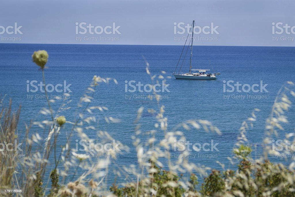 Boat on the sea. royalty-free stock photo