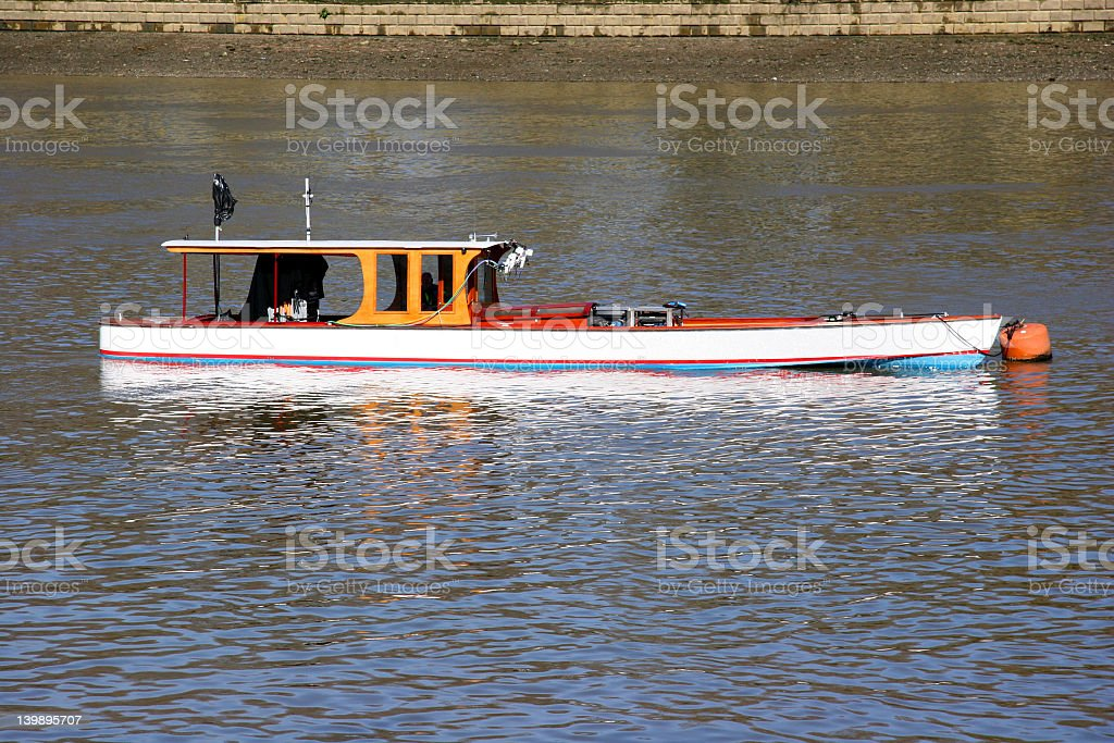 Boat on the Thames stock photo