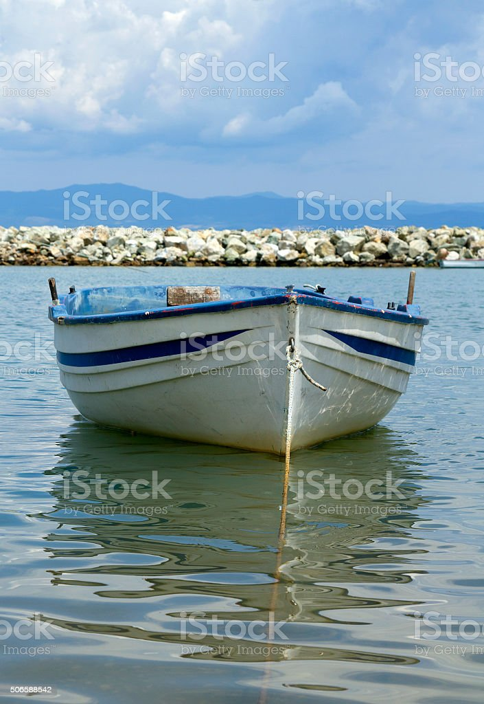 boat on the water stock photo