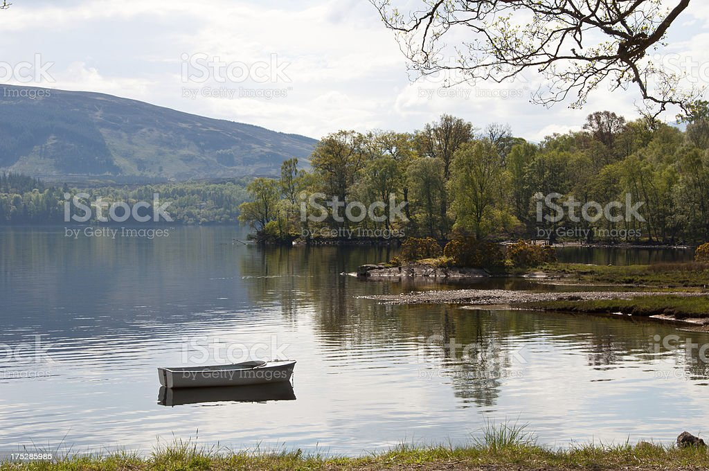 Boat on water royalty-free stock photo