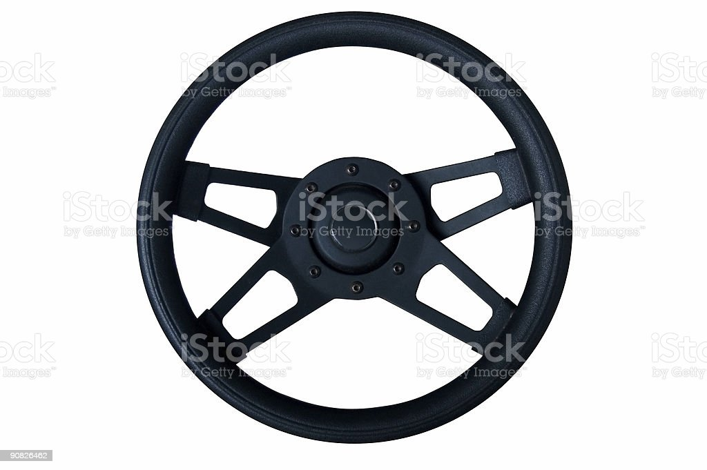 boat or car steering wheel royalty-free stock photo
