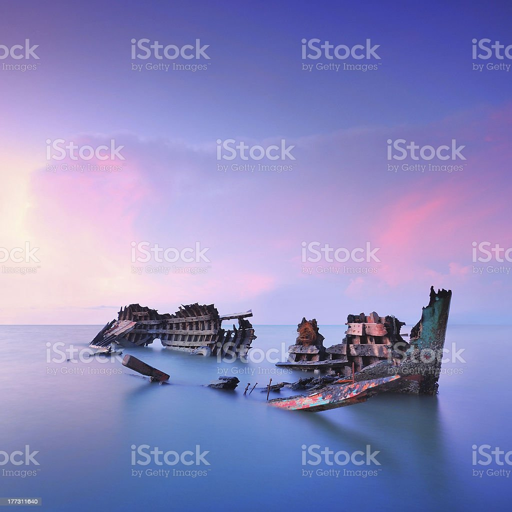 boat out of order stock photo
