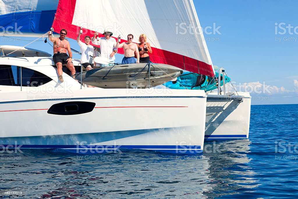 Boat party stock photo