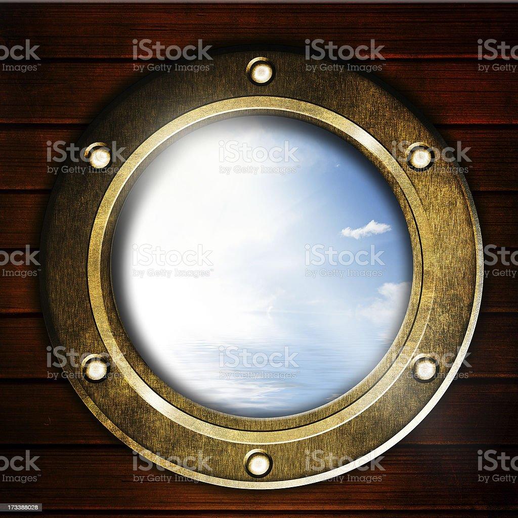 Boat porthole royalty-free stock photo