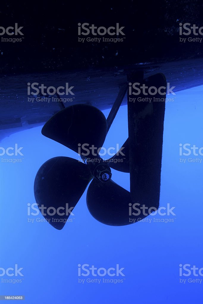 Boat propeller stock photo