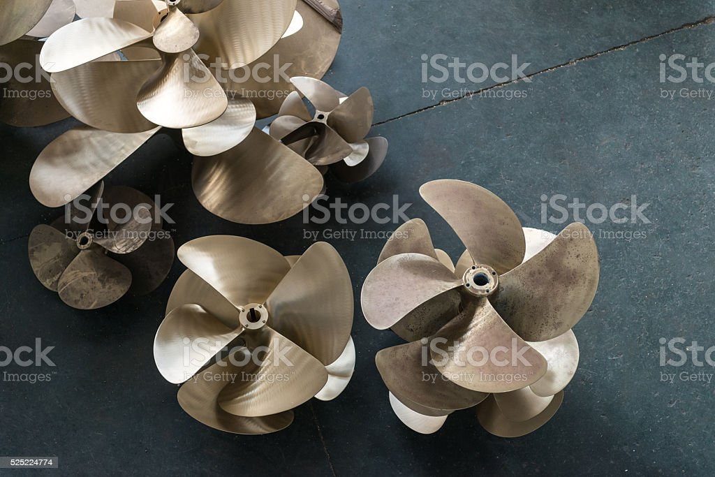 Boat propellers stock photo