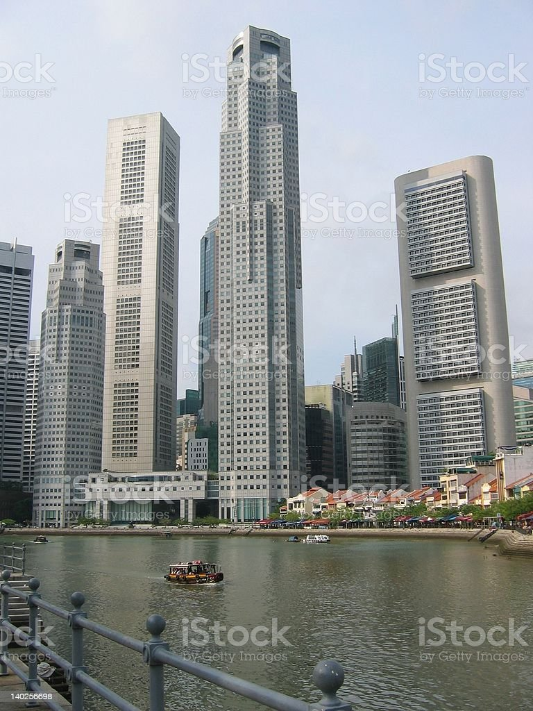 Boat Quay in Singapore stock photo
