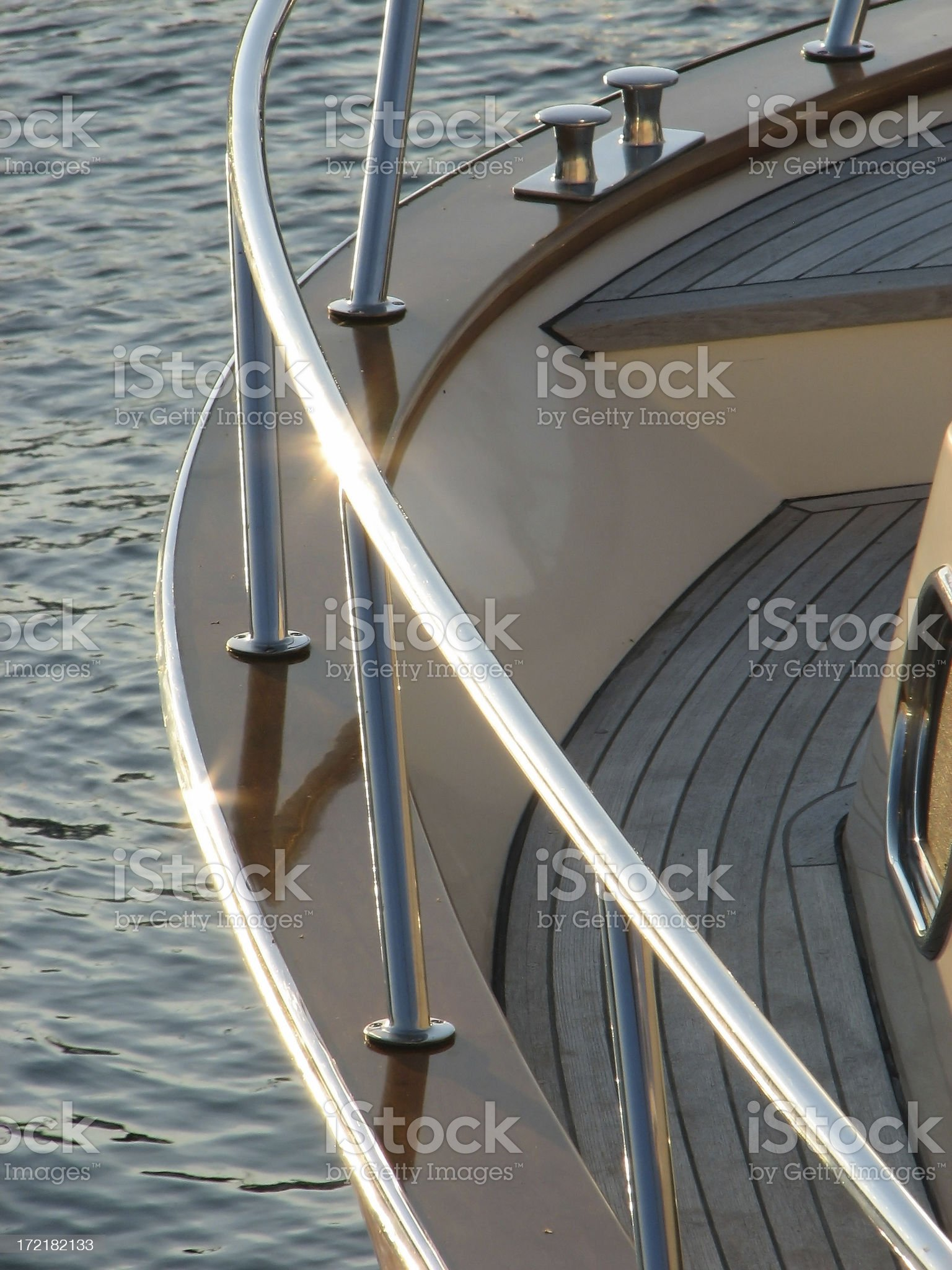 Boat Railing and Deck royalty-free stock photo