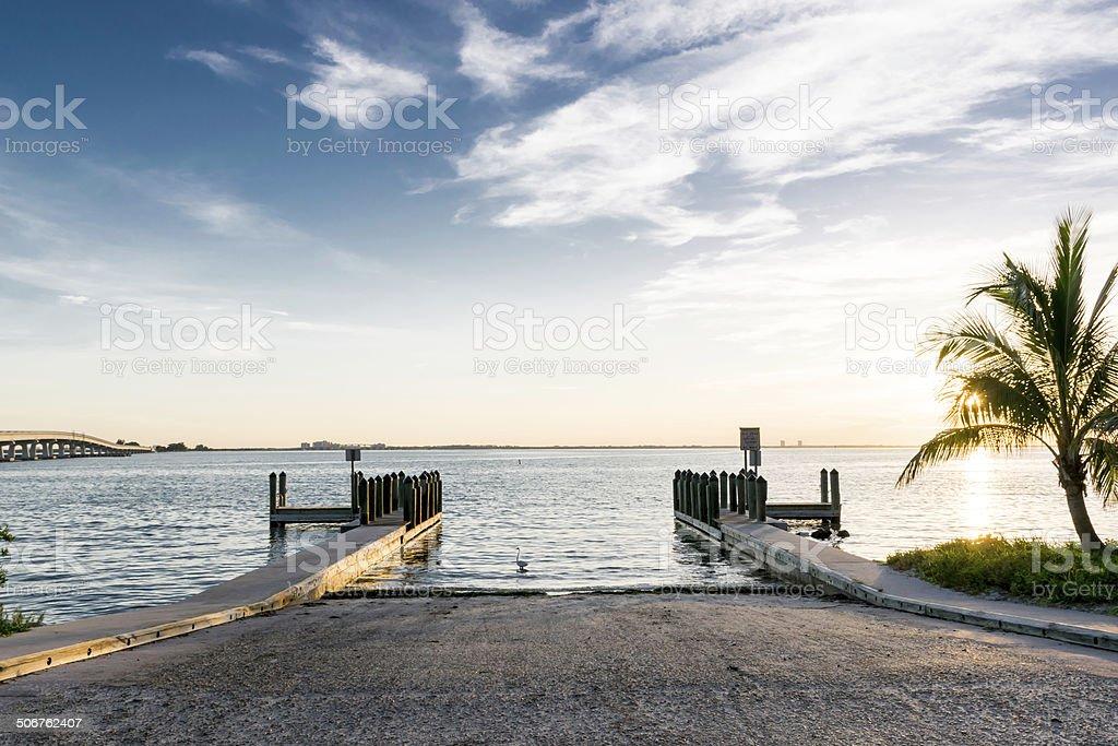 Boat Ramp At Sanibel Island stock photo