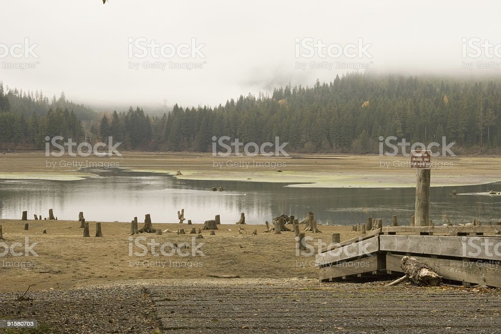 Boat Ramp in Drought royalty-free stock photo