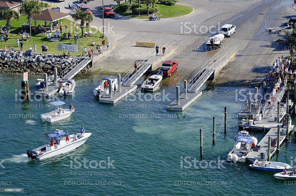 Boat ramp royalty-free stock photo