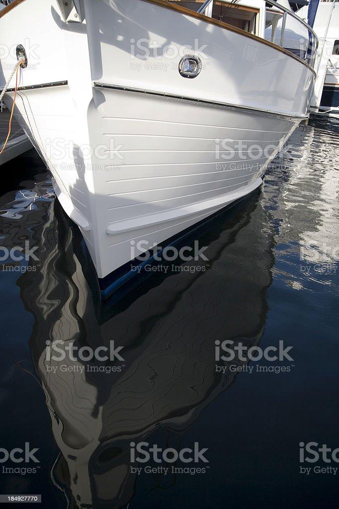 Boat reflected royalty-free stock photo
