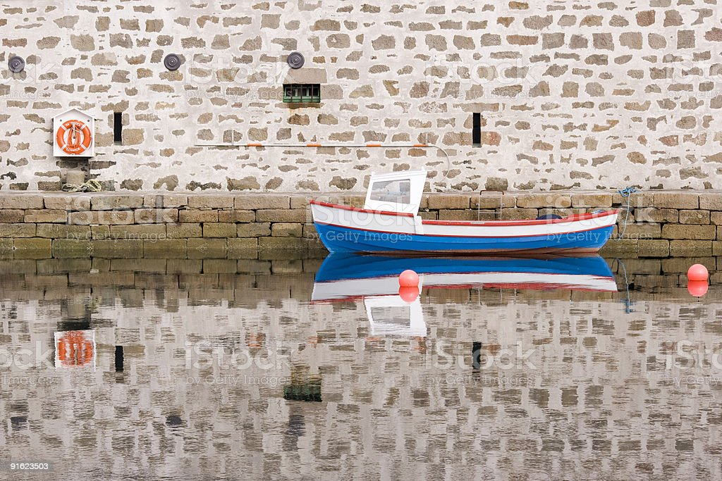 Boat Reflection royalty-free stock photo