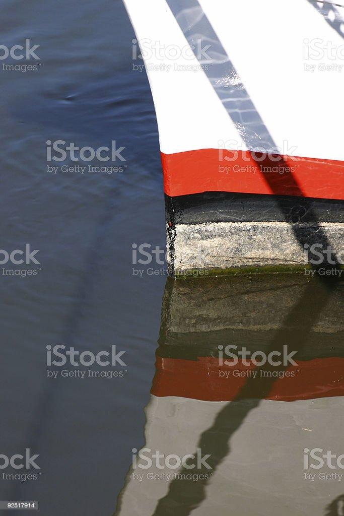 Boat reflection stock photo
