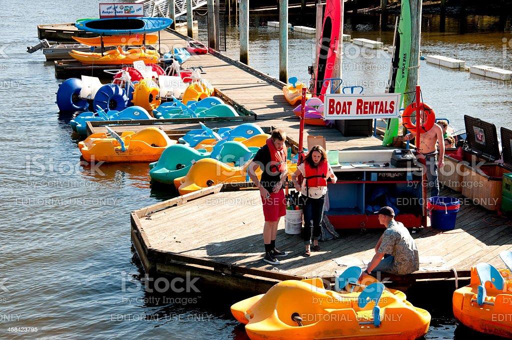 Boat Rentals stock photo