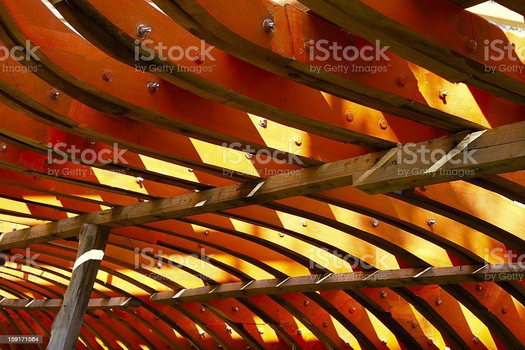 Boat ribs stock photo
