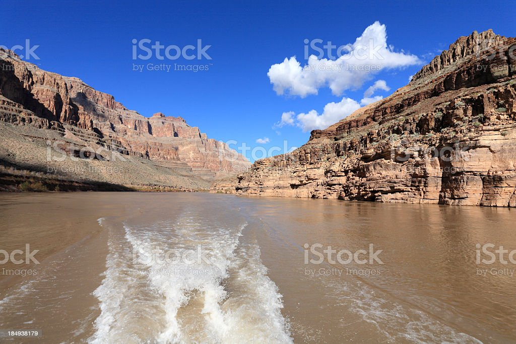 Boat ride in the Colorado River royalty-free stock photo