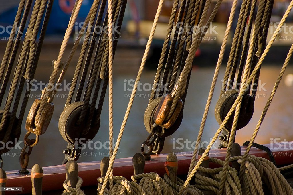 Boat rigging royalty-free stock photo