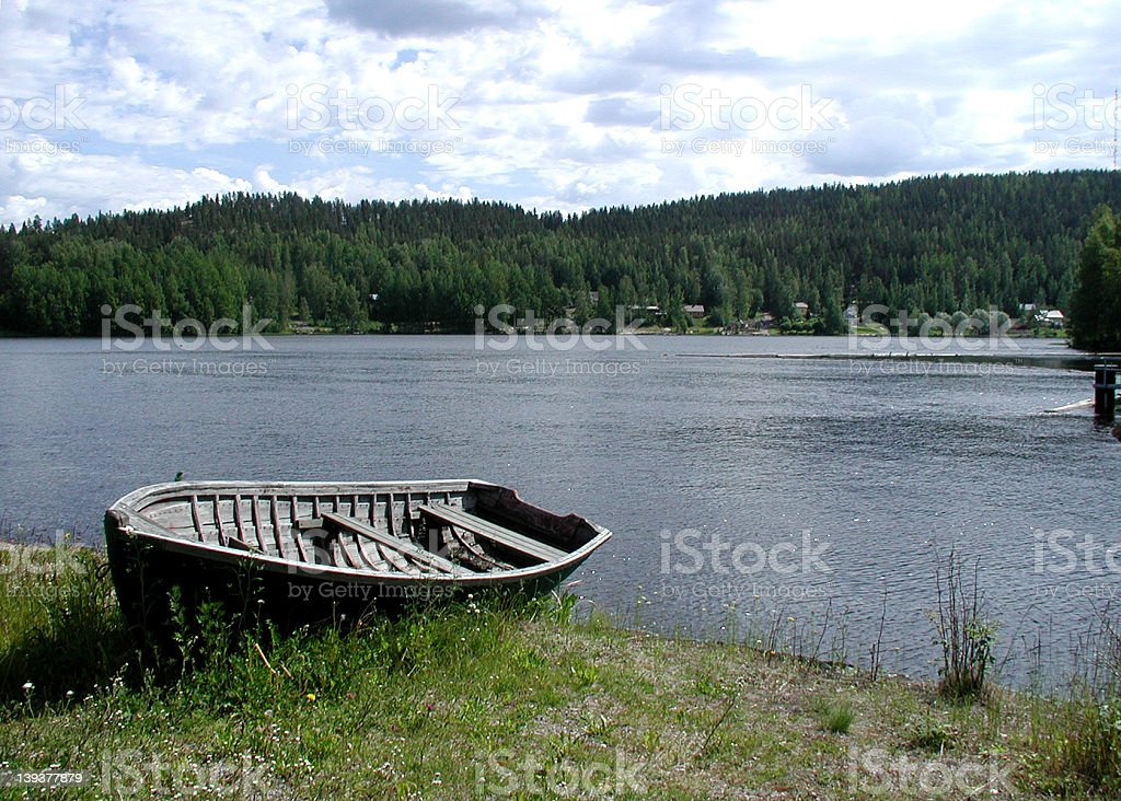 Boat, river and summer royalty-free stock photo