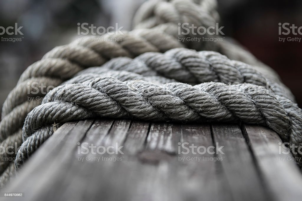 Boat rope stock photo
