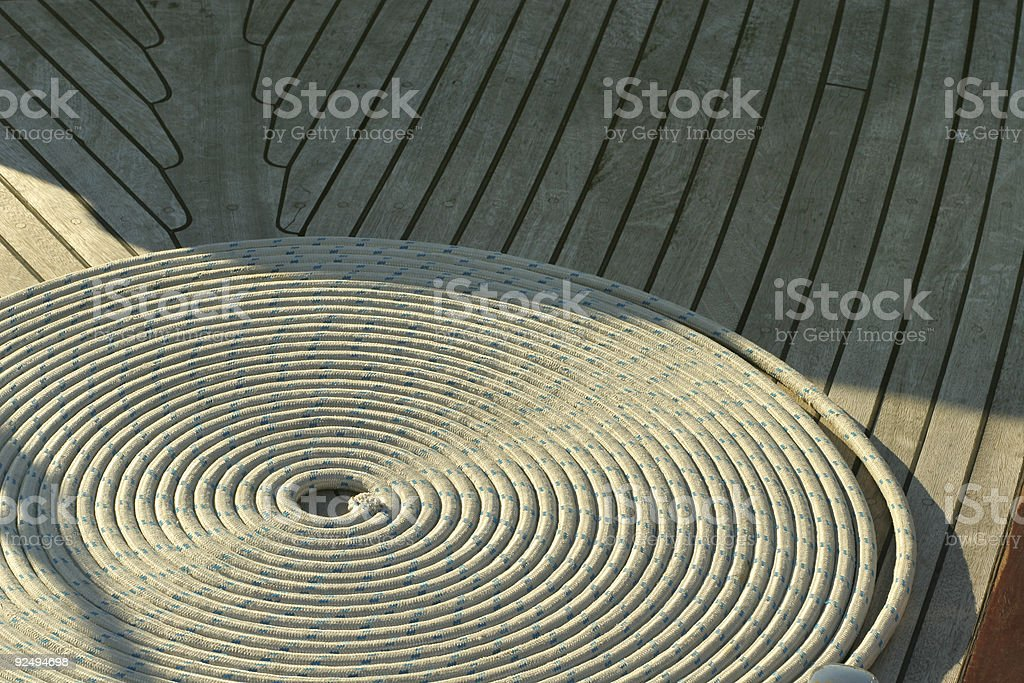 Boat rope royalty-free stock photo