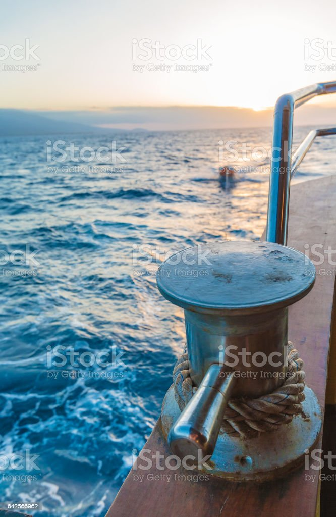 Boat Rope with Knot stock photo