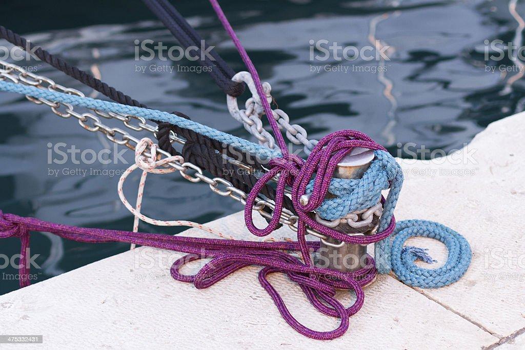 boat ropes royalty-free stock photo